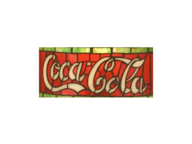 Coca Cola Stained Glass Lamp.Tiffany Stained Glass Coca Cola Floor Lamp 64 Inch