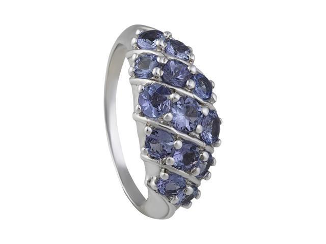 1.40 Carat Genuine Tanzanite Wedding Engagement Ring in 925 Sterling Silver