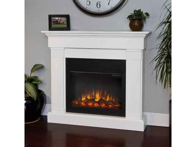 Phenomenal Real Flame Crawford Slim Line Electric Fireplace In White Newegg Com Home Remodeling Inspirations Genioncuboardxyz