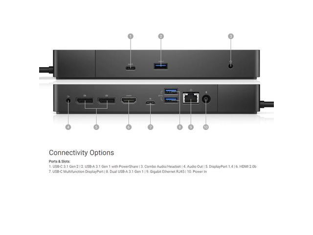 Dell Thunderbolt 3 USB-C TB16 Docking Station 180W 5K5RK DisplayPort HDMI Dock