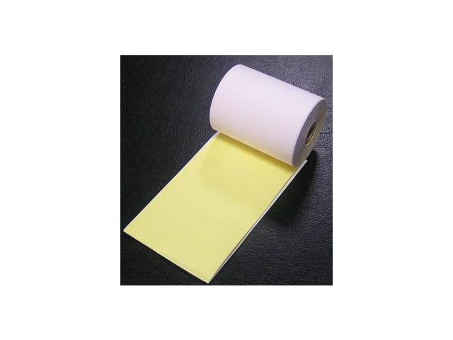 3 inch X 100 feet New roll of IBM credit card paper roll white//canary yellow