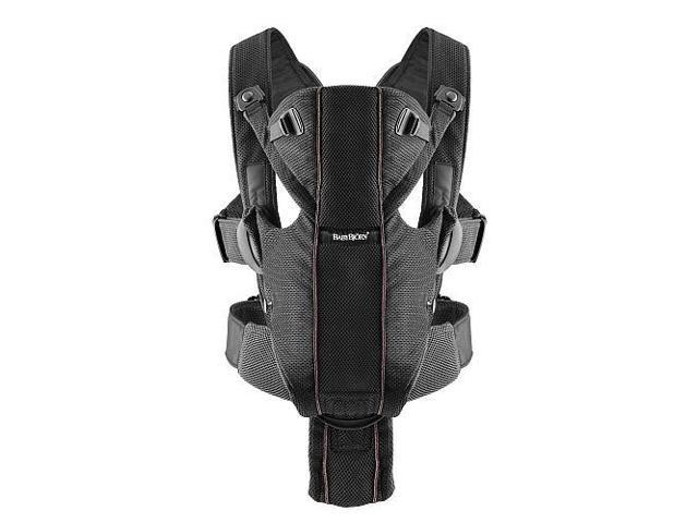 88b50e3446b Baby Bjorn 0960002US Airy Miracle Baby Carrier - Black Mesh ...