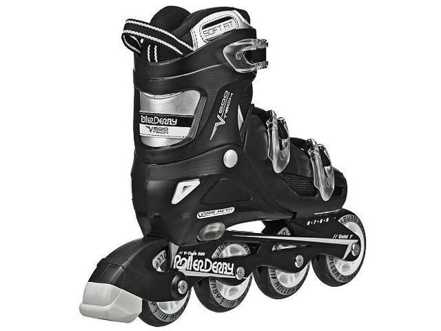 Roller Derby Inline Skate Mens Size 6-9 Black/White - V-Tech 500