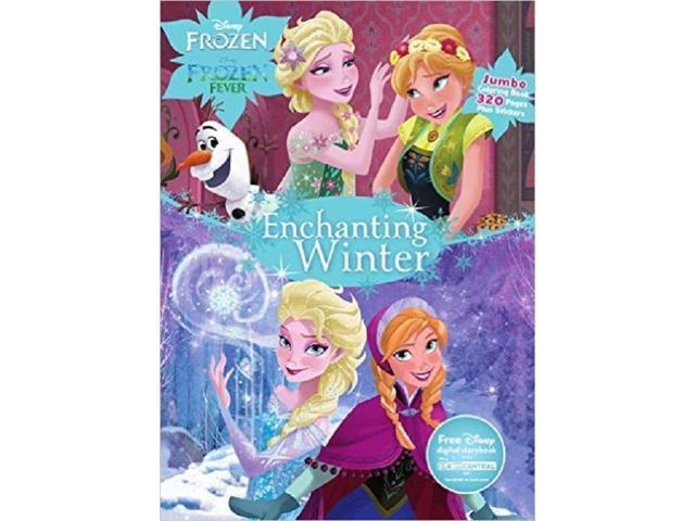 Disney Frozen Enchanting Winter Jumbo Coloring Book Clr Newegg Com