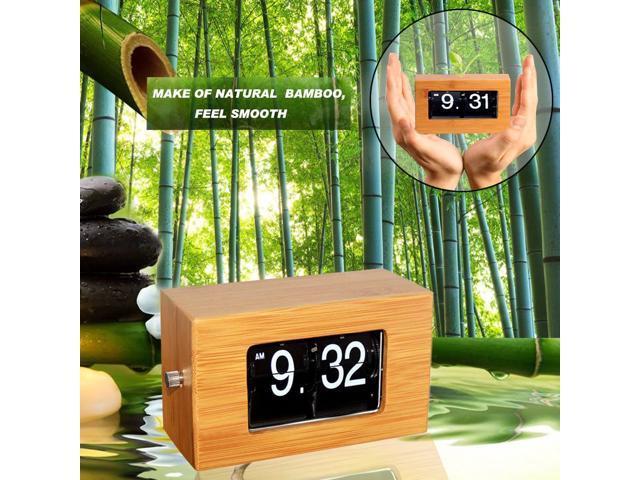 Home Decor Stainless Steel Digital Retro Flip Down Clock Internal Gear Operated