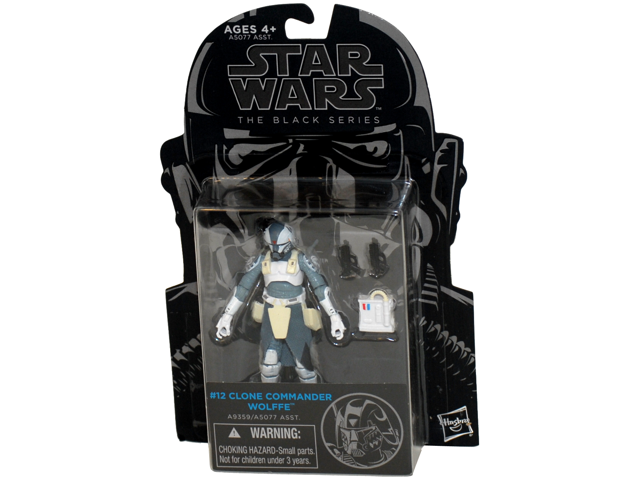 STAR WARS THE BLACK SERIES CLONE COMMANDER WOLFFE 3.75 INCH ACTION FIGURE