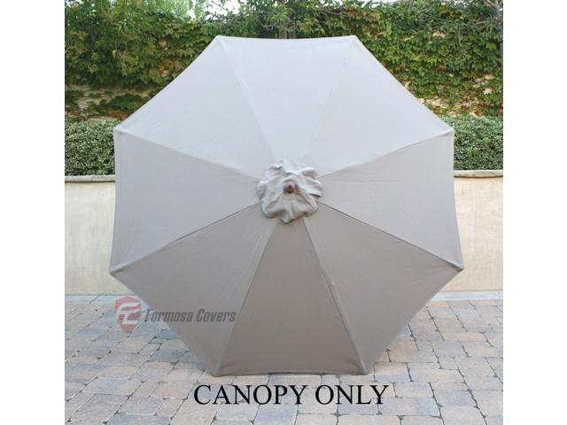 9ft Market Umbrella Replacement Canopy 8 Ribs Taupe Canopy Only