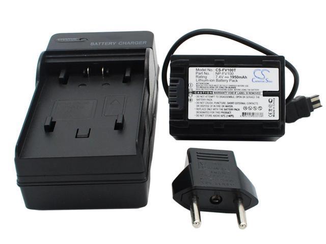 Bateria f Sony hdr-cx-350-v hdr-cx350v e hdr-cx350vet chip