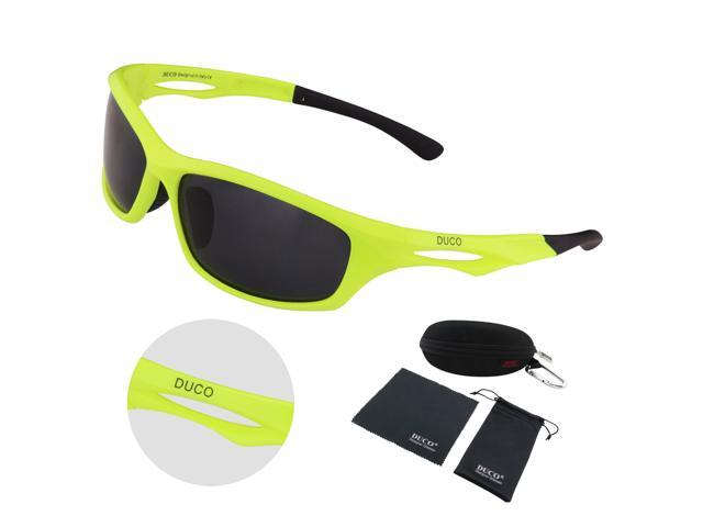 2c13bc66e1 DUCO Polarized Sunglasses for Running Cycling TR90 Unbreakable Frame 6199