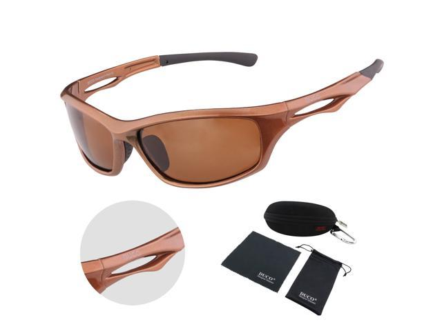 cfa1aabd580 DUCO Polarized Sunglasses for Running Cycling TR90 Unbreakable Frame 6199