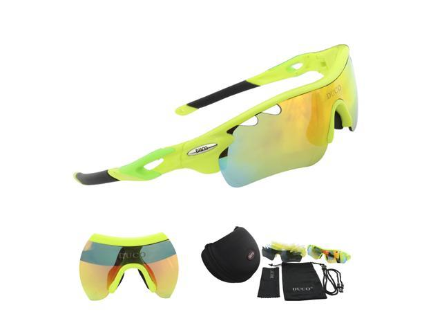 bd08bbc6ab Duco POLARIZED Sports Sunglasses Cycling Glasses With 5 Interchangeable  Lenses 0025