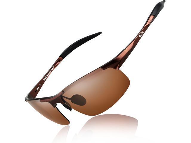6042e1e495 Duco Men s Sports Style Polarized Sunglasses Driver Glasses 8177S (Brown  Frame