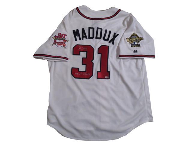 lowest price c72d0 37928 Greg Maddux Autographed Atlanta Braves Signed Jersey 95 WS CHAMPS MLB COA -  Newegg.com