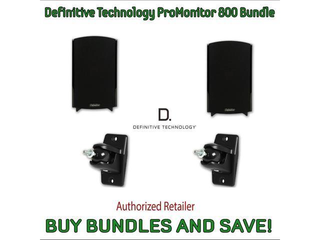 Definitive Technology ProMonitor 800 Bookshelf Speakers Pair Black Pro Mount