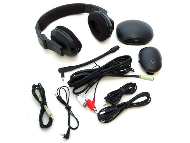 Rocketfish Rf Guv1202 Xbox 360 Ps3 Pc Gaming Wireless Headset Microphone Mac B Newegg Com