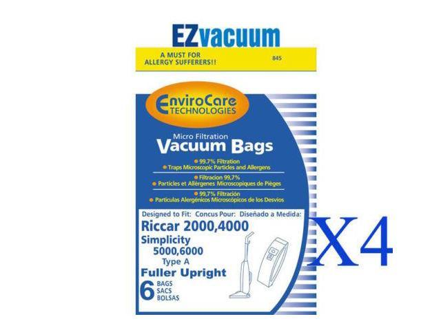 12 Vacuum Bags for Simplicity 5000 6000 Uprights Type A