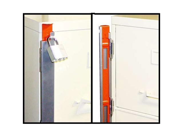 "progressive, fcl-2, 21-1/2"" 2 drawer, file cabinet locking bar, use 1 drawer file cabinet with lock"
