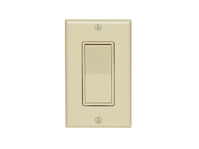 Leviton, 5673-2I, Decora 3 Way Quiet Rocker Switch with Wall