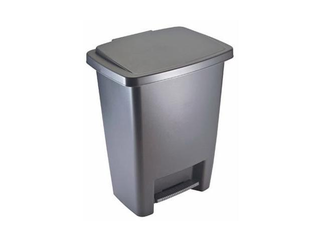 Rubbermaid 2841 87 Cylind 33 Qt Step On Cylinder Gray Plastic
