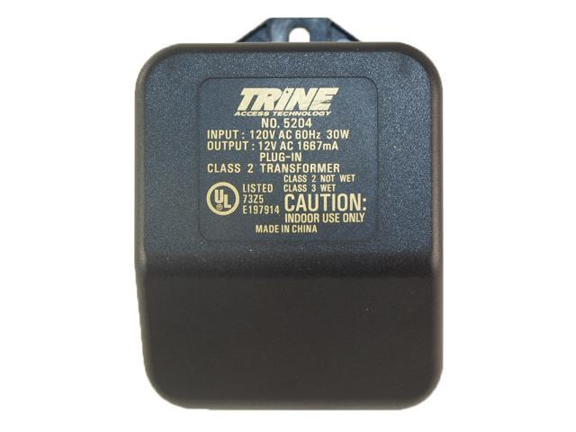 Trine 5204 Black 12VAC Plug In Type Transformer With 120 Volts ...
