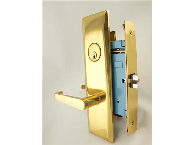Marks New Yorker 7NY92DW/3, Polished Brass Left Hand Mortise Lock Lever  Vestibule Function Always Locked Storeroom Latch Only 2-3/4