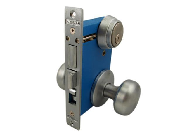 Marks 9215AC Left Hand Reverse Double Cylinder Lever Plate Mortise Lock Set