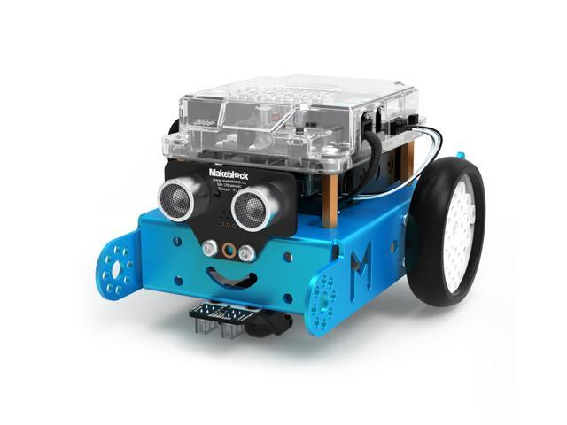 Makeblock mBot Smart Robot Kit, STEM Education, Easy Building and Coding,  Entry-Level Programmable and Free APP Control Robot for Kids, Compatible