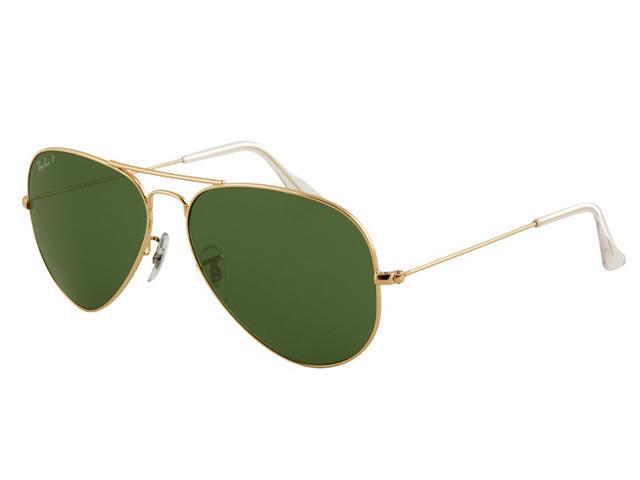 Ray Ban RB3025 Aviator Metal Classic Sunglasses - Gold Frame ...