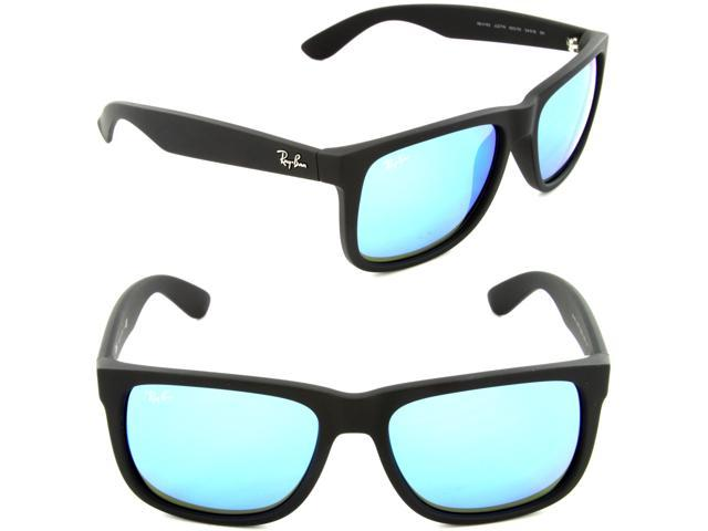 7247485815 ... coupon code ray ban rb4165 justin sunglasses rubber black frame blue  mirror lenses 622 55 99357