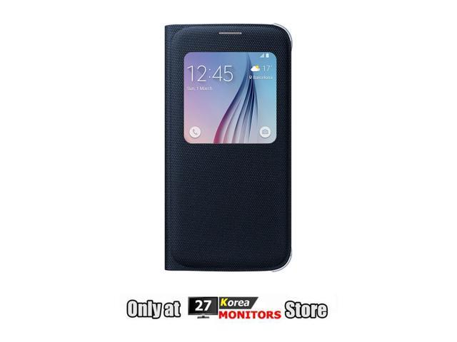 Samsung EF-CG920BBEG Wallet Flip Cover Fabric Slim Case for Samsung Galaxy  S6 G920 (Retail Packaging) - Black - Newegg com