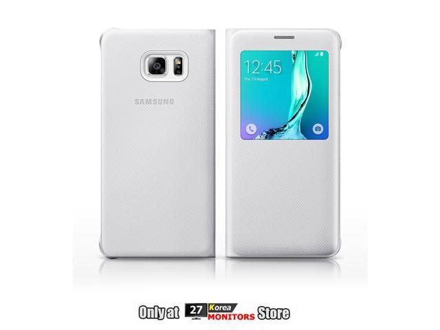 newest 86b06 76cdd Samsung EF-CG928PWEG S-View Flip Cover Case for Samsung Galaxy S6 edge Plus  (SM-G928) - Retail Packaging, White - Newegg.com