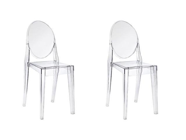 Amazing Btexpert Pair Of Modern Accent Transparent Dining Ghost Chair Armless Clear See Through Set Of 2 Andrewgaddart Wooden Chair Designs For Living Room Andrewgaddartcom
