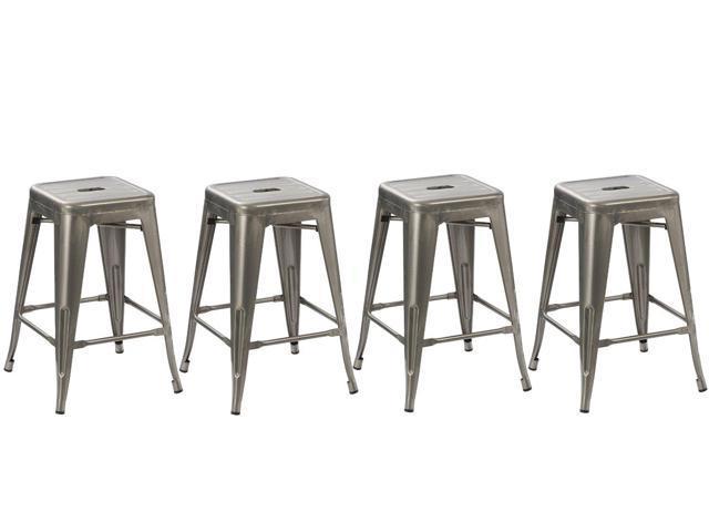 distressed metal furniture. BTEXPERT® 24-inch Industrial Vintage Antique Style Distressed Metal Brush Modern Counter Bar Stool Furniture