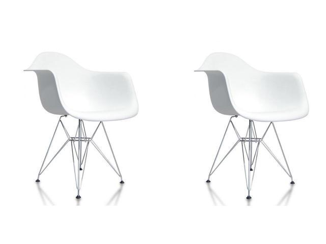Excellent Btexpert Eiffel Style Armchair Chrome Wire Dowell Legs Dining Room Arm Chair White Dar Set Of 2 Andrewgaddart Wooden Chair Designs For Living Room Andrewgaddartcom