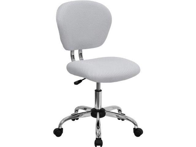 Surprising Btexpert White Mesh Mid Back Tilt Swivel Office Desk Task Chair Chrome Base Andrewgaddart Wooden Chair Designs For Living Room Andrewgaddartcom