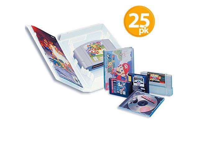 Universal Video Game Case with Full Sleeve Insert (25) Super NES - Sega  Genesis - CD - Nintendo 64 Retro Gaming Protective Cases - Newegg com