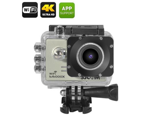 watch 72183 8e19b SJCAM SJ5000X Elite Edition 4K Wi-Fi Action Camera with Gyro Sensor and  IP68 Waterproof Case - Silver - Newegg.com
