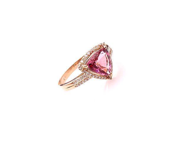 Pink Tourmaline Ring 7.5 Engagement Ring Alternative Pink Tourmaline Tourmaline Ring Size 7.5 Pink Tourmaline Pink Tourmaline