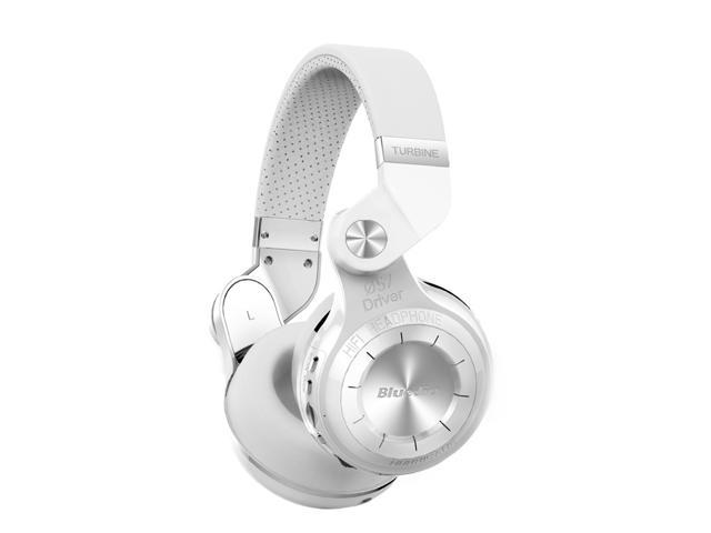 21121395abc Bluedio T2+ (Turbine 2 Plus) Bluetooth 4.1 Stereo Wireless On-Ear Headphones  with Built-In Microphone, Support SD Card Playback FM Radio - White