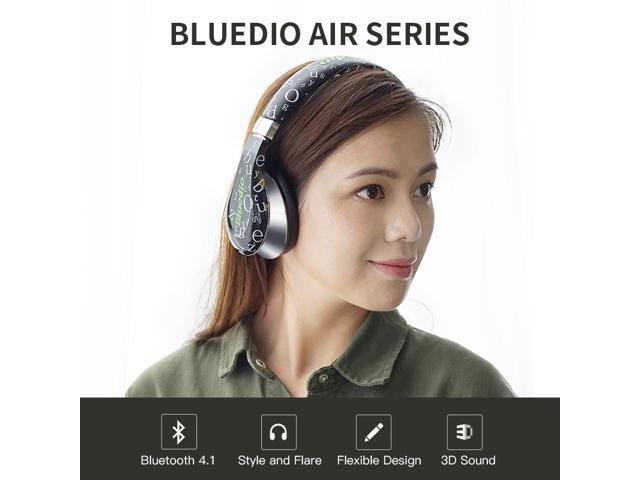 da7ce85af89 Bluedio A (Air) Fashionable Wireless Bluetooth Headphones with Microphone  HD Diaphragm Twistable Headband 3D