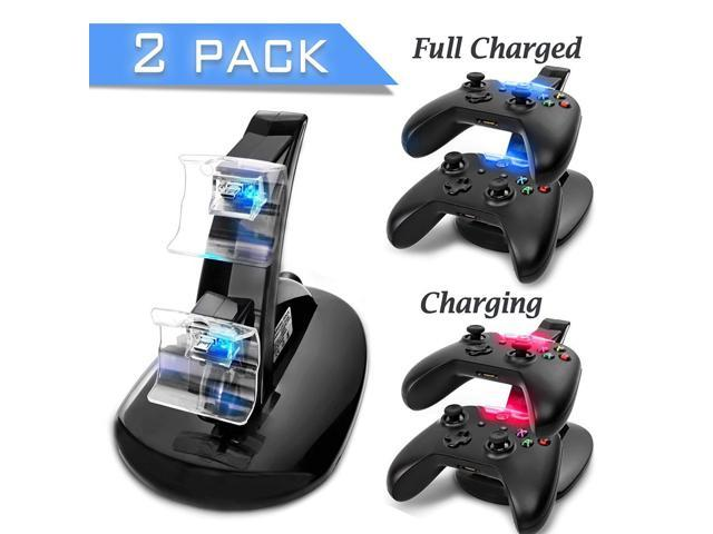 Xbox One Charging Dock[2 Pack] ,iClover Dual Xbox One Controller USB  Charger LED Light Charging System with USB Cable - Newegg com