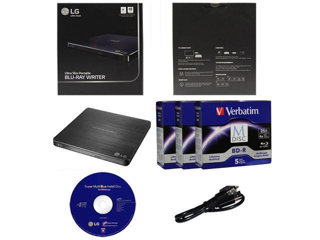 LG 16X Blu-ray Burner+FREE 15pk MDisc BD+Nero+SATA Cable for Desktop HP DELL