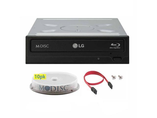 LG WH16NS40 16X M-Disc Blu-ray BDXL CD DVD Internal Burner Writer Drive +  FREE 10pk Mdisc DVD + Cable & Mounting Screws