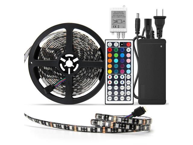 Supernight Waterproof 5050 Led Strip Light Black Pcb 16 4ft 300leds Rope Lights With Remote