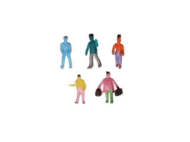 100pcs 1:200 Scale Z Gauge Painted Model People for DIY Layout Stree Figure