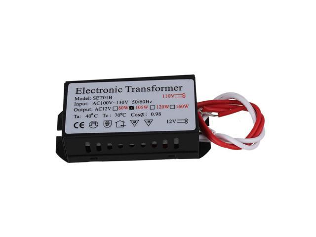 BQLZR Driver Adapter 105W Halogen Electronic Dimmable Transformer AC 110V  to 12V 105W - Newegg com