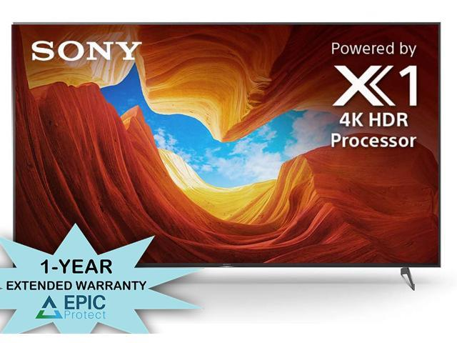 """Sony XBR-85X900H 85"""" 4K Ultra High Definition HDR Full Array LED Smart TV with an Additional 1 Year Coverage by Epic Protect Bundle (2020)"""
