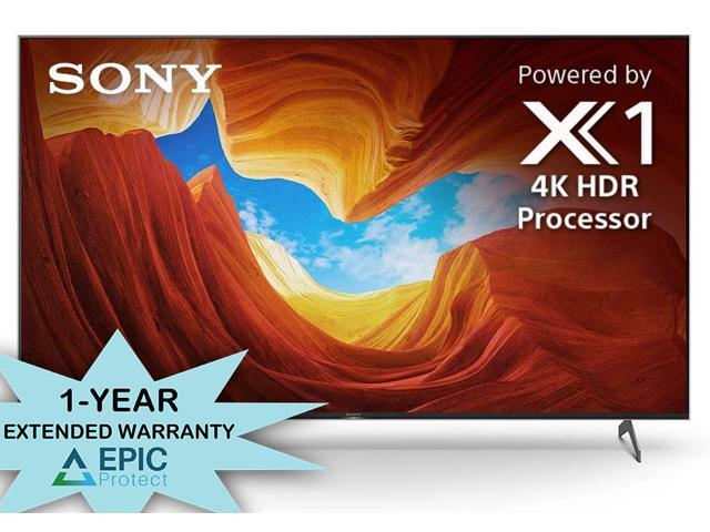 """Sony XBR-65X900H 65"""" 4K Ultra High Definition HDR LED Smart TV with an Additional 1 Year Coverage by Epic Protect Bundle (2020)"""