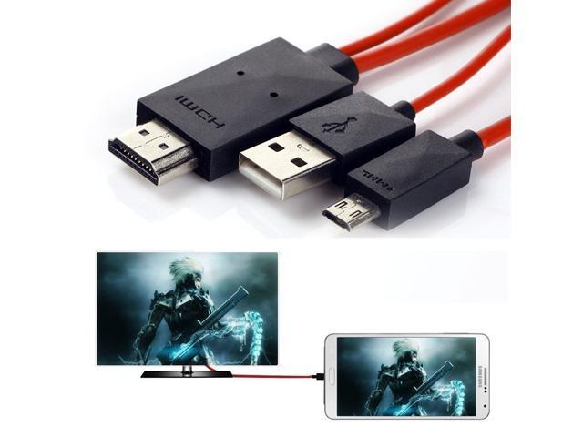 MHL 11 Pin Micro-USB to HDMI Adapter Cable for Samsung Galaxy S5 S4 S3 Note  3 2 Phone