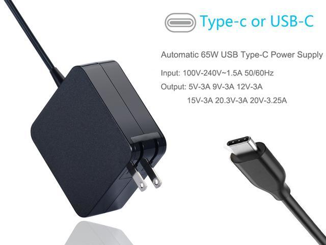 Usb Type C 65w Travel Adapter Charger For Asus Lenovo